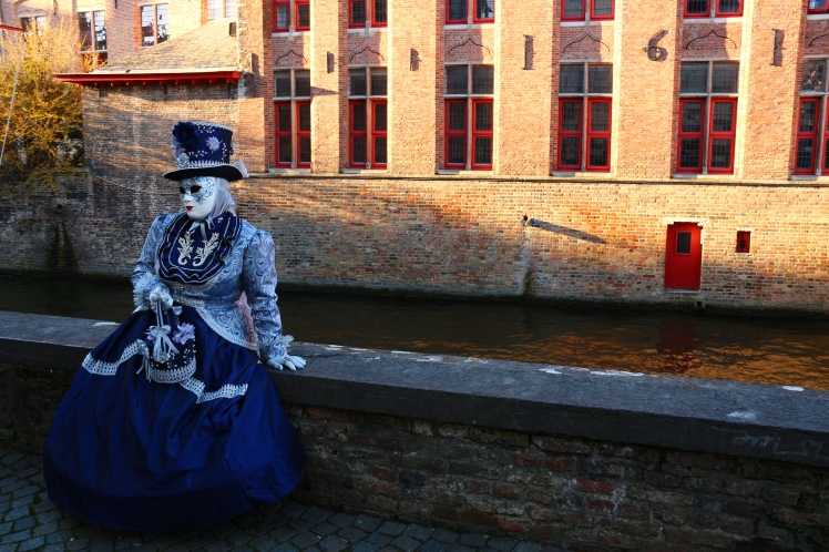 Venice costumes on the streets of Bruges