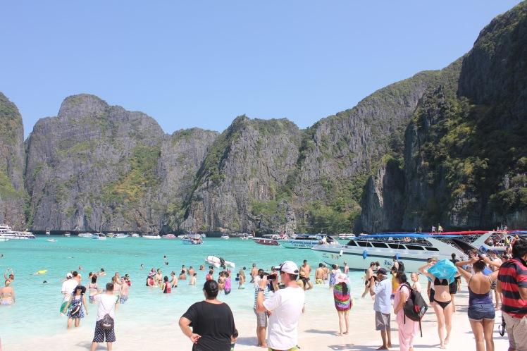 Crowds on Maya Bay beach, Phi Phi Islands